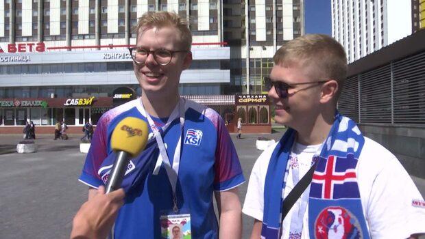 Isländska fans tror på en lätt match mot Argentina