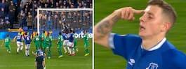 Drömmålet räddade  Everton – i minut 96