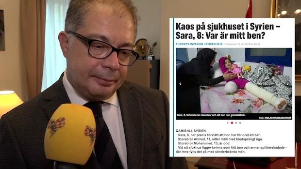 Här kommenterar turkiske ambassadören Expressens bilder från Syrien
