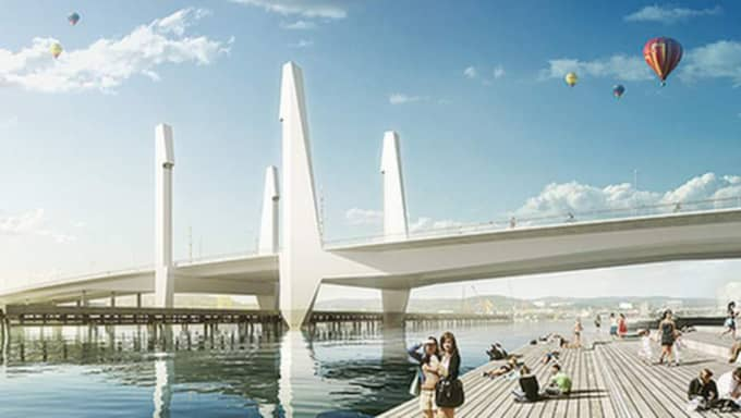 Den nya bron kan bli ett bekymmer för sjöfarten. Foto: Göteborgs stad