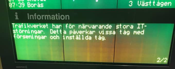 Det var en reglerätt IT-attack som skapade kaos i tågtrafiken på onsdagsmorgonen. Foto: LÄSARBILD