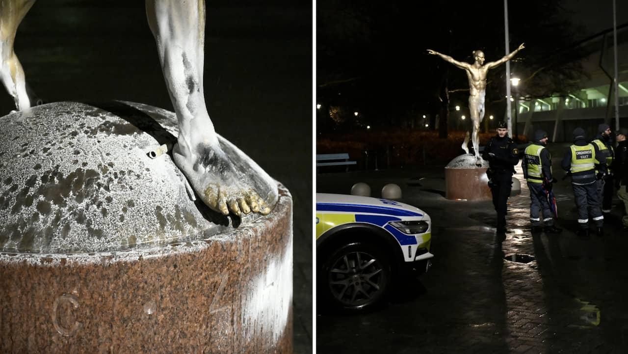 Rasistdåd mot Zlatans staty i Malmö – efter Hammarbybeskedet