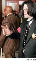 Michael jackson kom inte till rattegangen