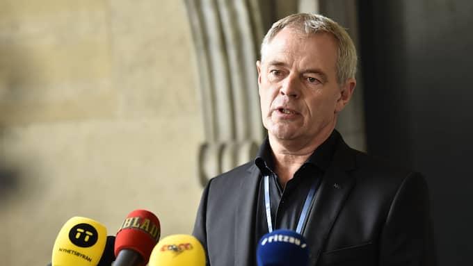 Jens Möller vid polisen i Köpenhamn. Foto: / CHRISTIAN ÖRNBERG