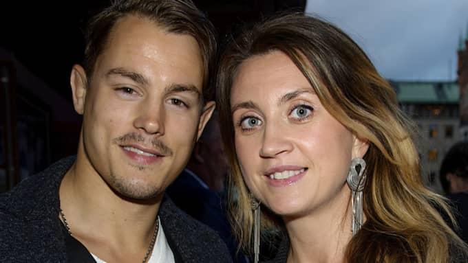Simon Sköld och Camilla Läckberg Foto: /All Over Press