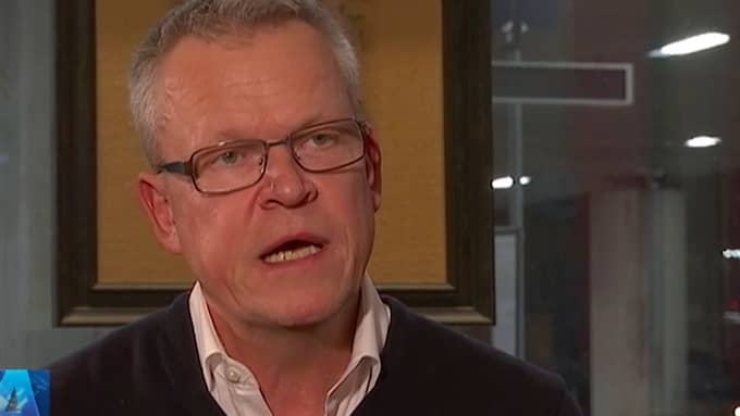 Janne Andersson avslöjar sin ilska i SVT. Foto: SVT