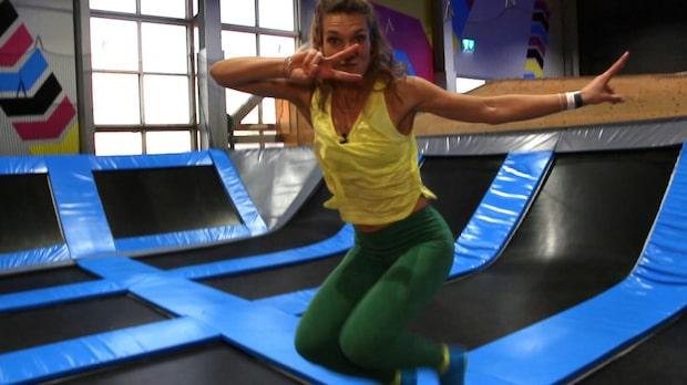 Erika Kits Gölevik testar trampolinträning