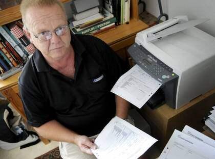 Här hos åkaren Hasse Börgdal hamnar många av de fax som ska till sjukhuset i Malmö. Foto: Wahlgren Christer