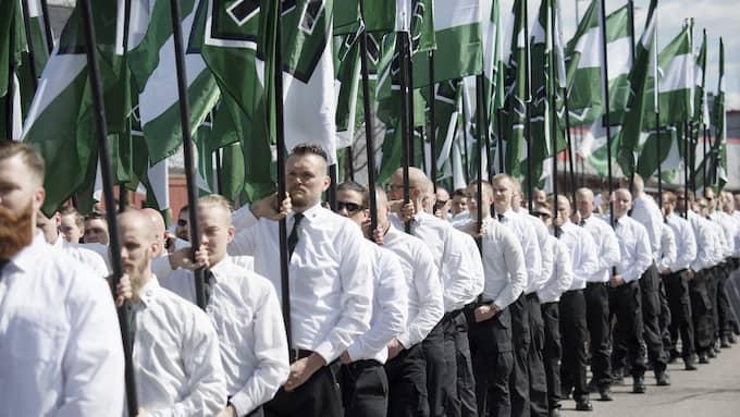 """Säkerhetspolisen skriver i en inlaga att NMR är en vitmakt-rörelse som """"kämpar för den vita rasens överlevande och inrättandet av en nordisk socialistisk republik"""" Foto: SVEN LINDWALL"""