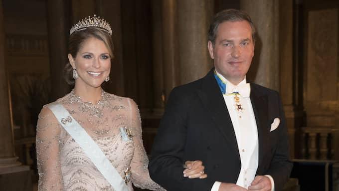 Prinsessan Madeleine och Chris O'Neill närvarade båda vid förra årets Nobelfest. Foto: CHARLES HAMMARSTEN / IBL BILDBYR / IBL BILDBYRÅ/IBL IBL