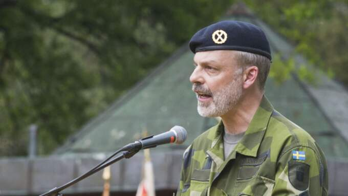 Avgående arméchefen Anders Brännström. Foto: Erik Åhman / KVP