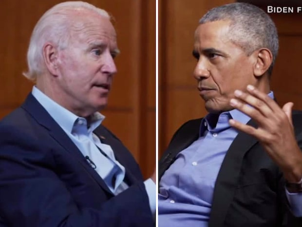 Här ger Barack Obama sitt stöd till Joe Biden