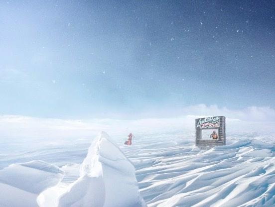 Så här är gratisbaren vid Nordpolen tänkt att se ut.
