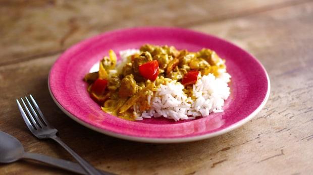 Krämig kycklinggryta med curry
