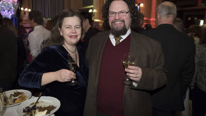 Gunillla Kinn Blom och Edward Blom. Foto: SVEN LINDWALL