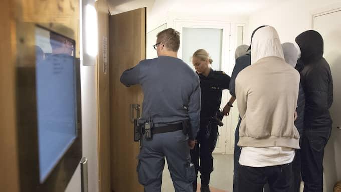 Bild från rättegången om morden i Hallonbergen. Foto: JESSICA GOW/TT / TT NYHETSBYRÅN