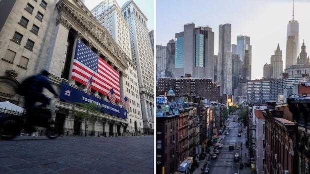 Antalet covidsmittade minskar i New York