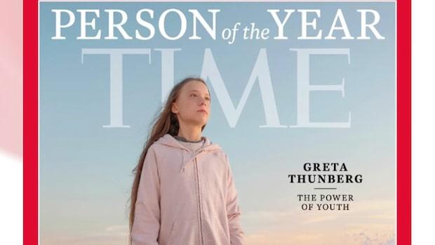 """Greta Thunberg är """"Årets person 2019"""""""