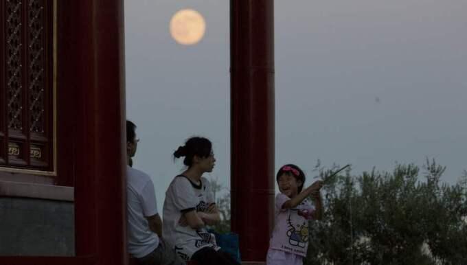 Här kan man se fenomenet över Kinas huvudstad Peking senast det var aktuellt. Foto: Ng Han Guan