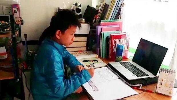 Honkong i karantän: Skolbarnen får hemundervisning