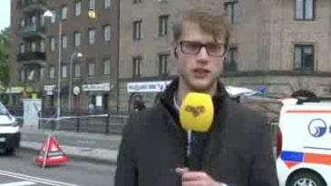 GT:s reporter på plats vid olycksplatsen