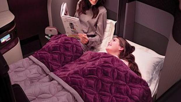 Världens första dubbelsäng på Qatar Airways