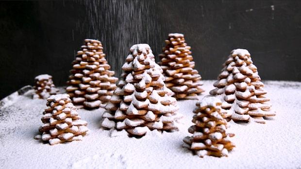 Bygg en enkel gran av pepparkakor