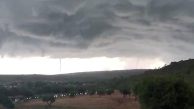 Storm med hagel stora som golfbollar på Mallorca