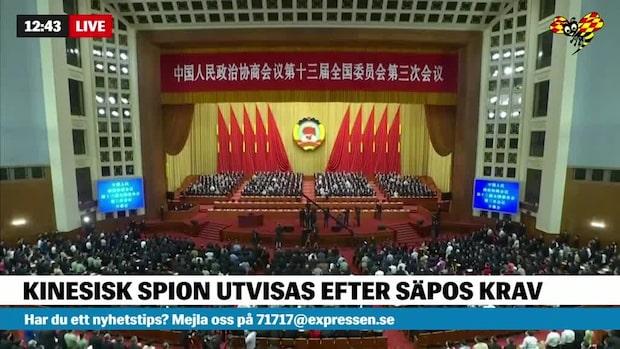 Kinesisk spion utvisas efter Säpos krav
