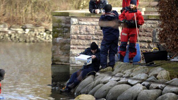 Polisens dykare hittade handgranat i Pildammsparken