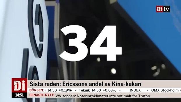 Sista raden: Ericssons andel av Kina-kakan