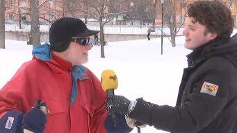 Väder, trafikrapport och koll på pulkföret i Stockholm