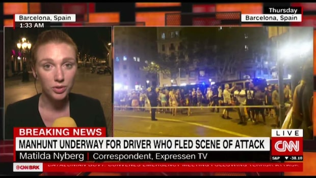 Expressens Matilda Nybergs rapport om terrordåden i CNN