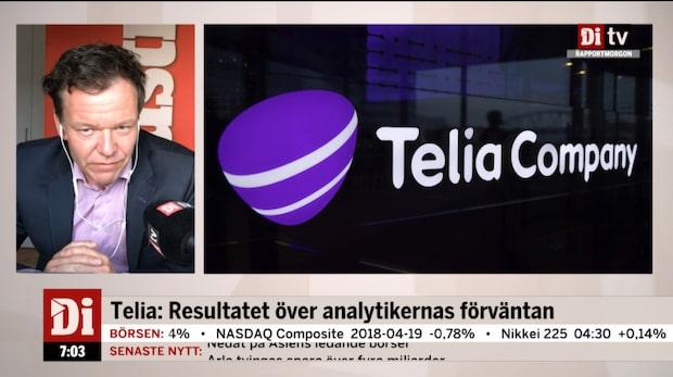 Telia: Resultat över analytikernas förväntan