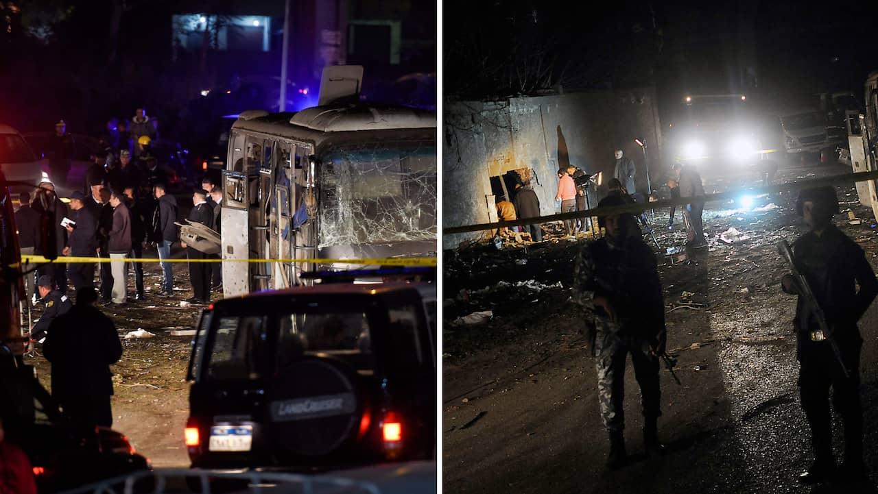 Explosion skadade tva i egypten
