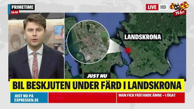 Bil beskjuten med flera skott i Skåne