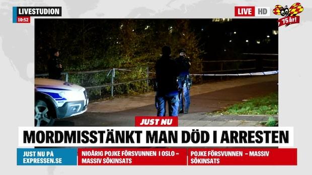 Mordmisstänkt man död i arresten