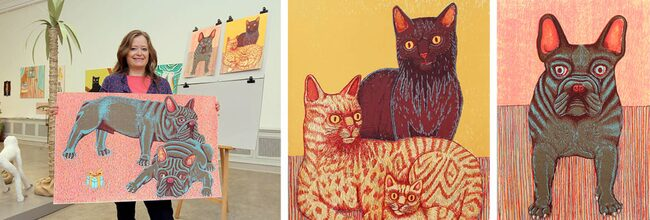 Amalia Årfelt målar gärna djur som har sina egna uttryck.