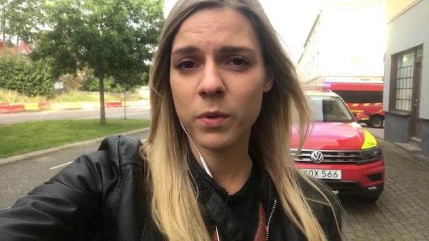 GT:s reporter på plats vid landshövdingehuset