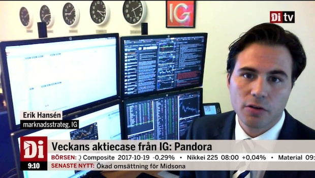 Veckans aktiecase från IG: Pandora