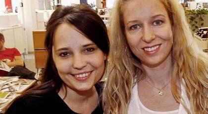 Karin Olsson och Anna Dahlberg på Expressens ledarredaktion. Foto: Cornelia Nordström