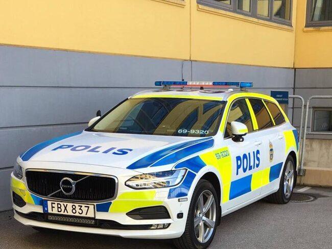 Här är den Volvo V90 som finns hos polisen i Växjö och Alvesta.