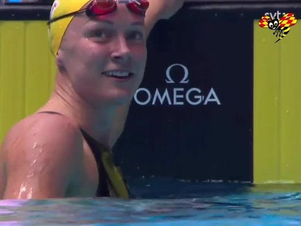 Sarah Sjöström historisk – tog tredje raka guldet