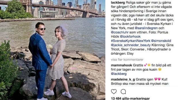 Läckberg och Sköld har gift sig – en gång till