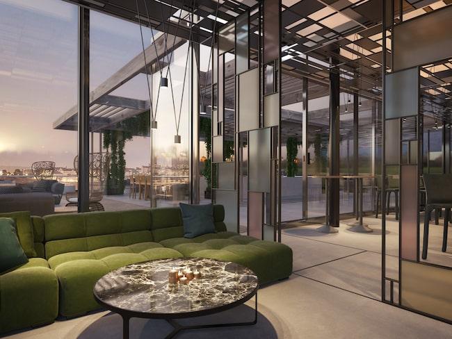 Här är Stockholms nya takbar Tak på hotellet At Six. Hotellet ägs av Petter Stordalen och hans råd till alla är att utnyttja hotellets alla ytor.