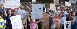 Pompa och protester vid Trumps besök