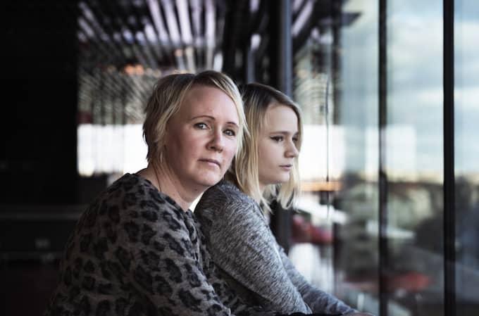 Mamma Linda med dottern Antonia. Foto: Anna-Karin Nilsson/Expressen