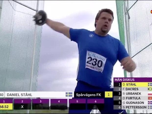 Daniel Ståhls styrkebesked på Sollentunavallen