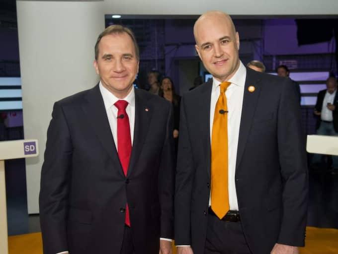 Stefan Löfven och Fredrik Reinfeldt tappar enligt den nya mätningen. Foto: Christian Örnberg