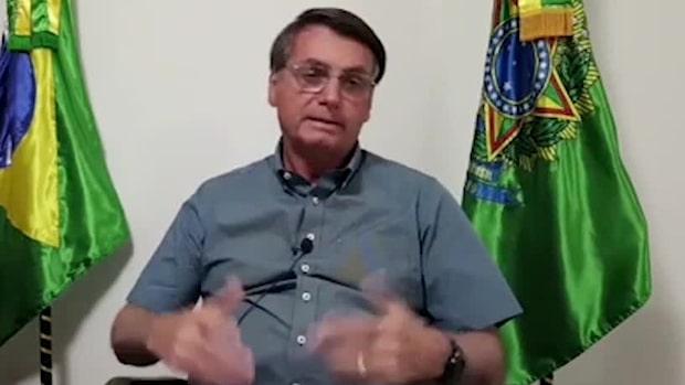 President Bolsonaro semi-isolerar sig efter covid-diagnosen